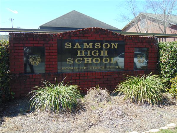 Samson High School Sign