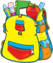 School supplies in a backpack