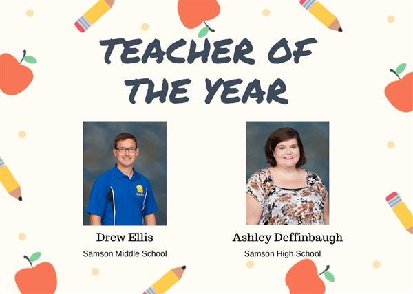 Congratulations to our Teachers of the Year!