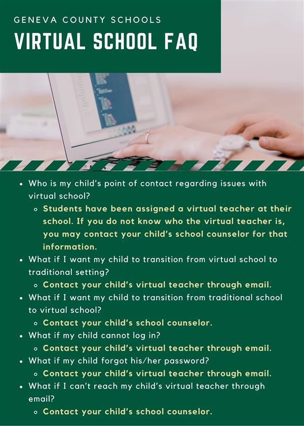 Virtual School FAQ