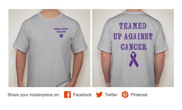 GCMS Student Council Cancer T-Shirt Fundraiser